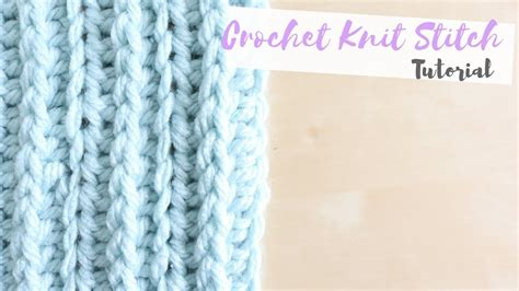 crochet knit stitch crochet how to crochet the knit stitch coco doovi