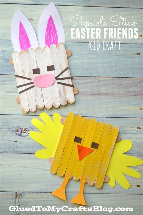 popsicle stick kid crafts popsicle stick easter friends kid craft
