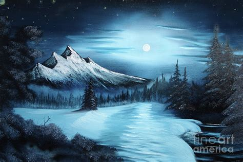 bob ross painting in winter painting a la bob ross painting by bruno santoro