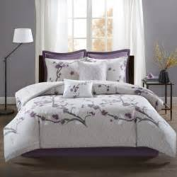 park bridgette comforter set park purple 8 cotton cal king size