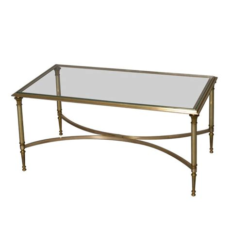 glass top coffee table bronze frame glass top coffee table by maison charles at