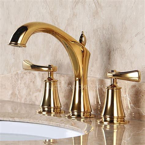 designer faucets designer polished brass three holes decorative bathroom