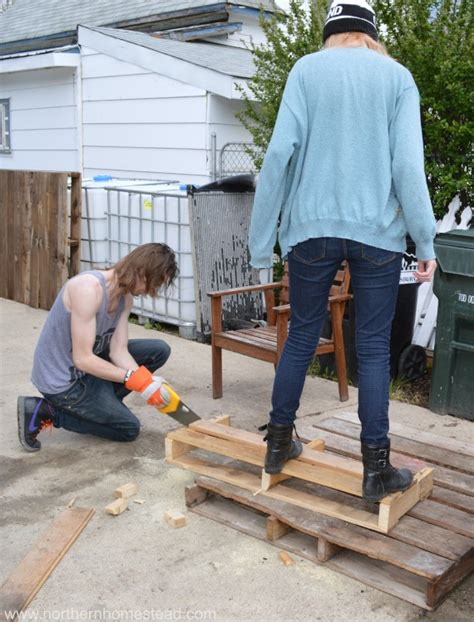 how do you build a patio building an easy pallet deck northern homestead