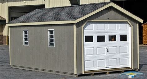 single car garage 1 car prefab garage horizon structures