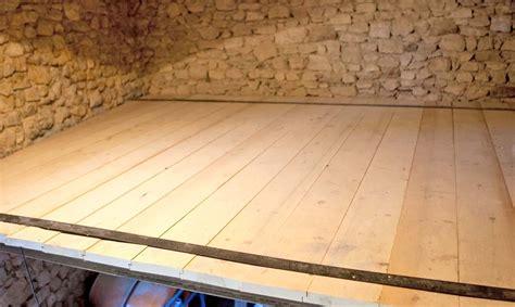 plancher en bois sur poutres m 233 talliques les 233 de pose