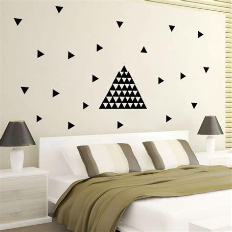 peel wall stickers 48pcs triangles wall sticker room wall decoration