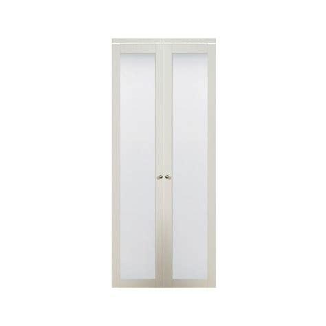 bifold closet doors with frosted glass bi fold doors truporte doors 3010 series 24 in x 80 in