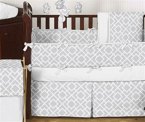gray and white crib bedding sets jojo designs gray white 9 crib bedding set