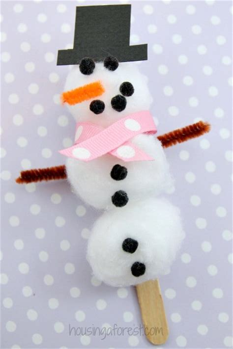 easy snowman crafts for cotton snowman craft housing a forest