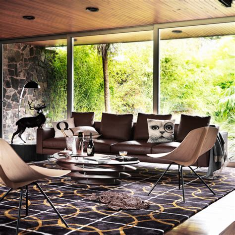brown leather sofa in living room modern living room with brown leather sofa living room