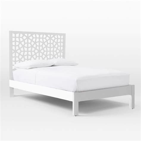 simple white bed frame simple bed frame