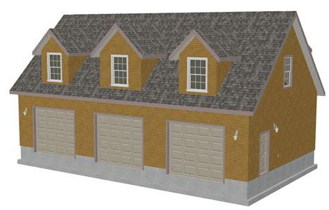 detached garage plans with bonus room g445 plans 48 x 28 x 10 cape cod garage plans