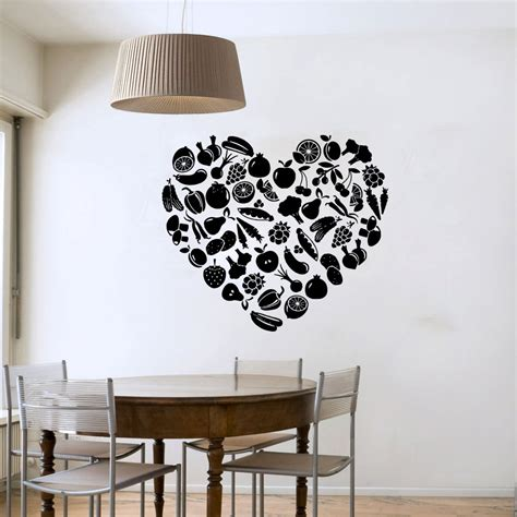 vinyl decals for home decor shaped fruit and vegetable wall sticker diy