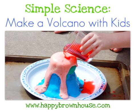 easy science crafts for simple science how to make a volcano with volcano