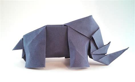 origami rhinoceros origami rhinoceros 1 gilad s origami page