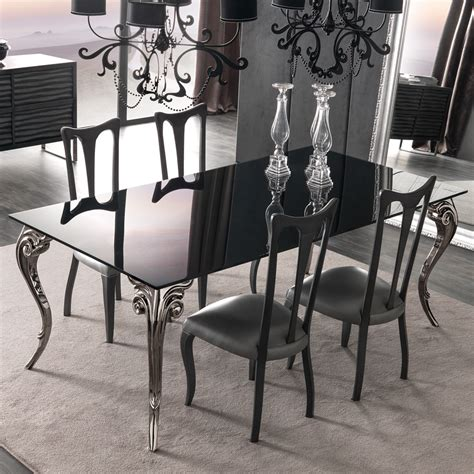 glass dining room table sets large black glass dining table set