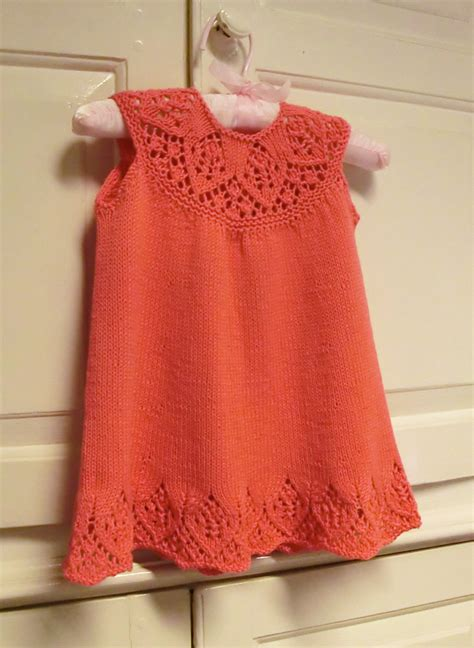 knit clothing baby dress knitting pattern with lace yoke meredith baby
