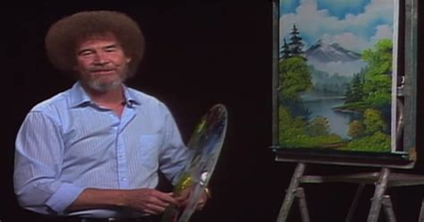 tv programm bob ross painting the of betrayal bob ross hair was the result