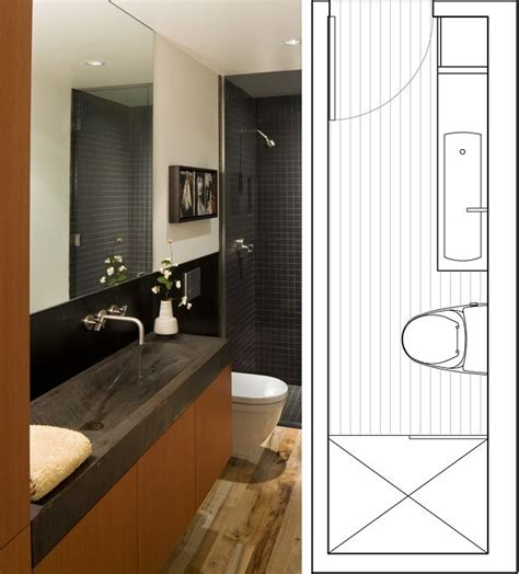 narrow bathroom layout guest bathroom effective use of space home world s smallest ensuite