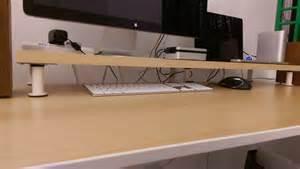 10cm lift desk shelf monitor stand ikea hackers ikea hackers