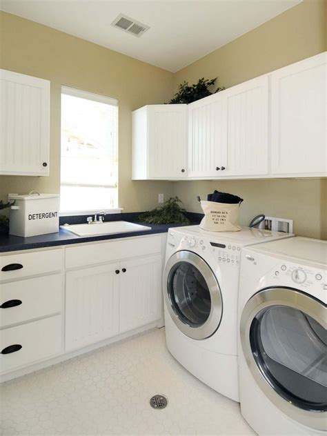 Laundry Room Hanging Cabinets, Best Laundry Room Colors