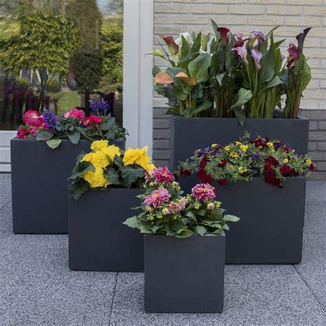 bac 224 fleurs polystone l50 h50 cm anthracite plantes et jardins