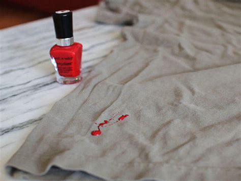 How To Remove Nail Polish Stains From Clothes, Carpets