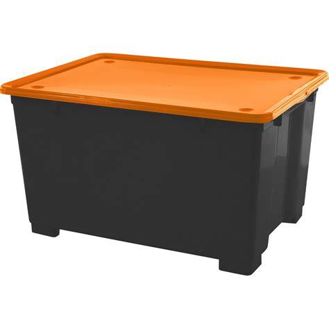 bac de rangement en plastique cbox m 233 ga h 45 x l 78 x p 56cm 140l leroy merlin
