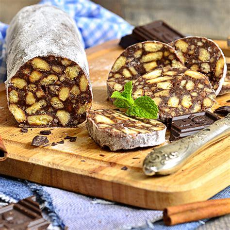 saucisson de chocolat fourr 233 biscuits guimauves sans gluten valpiform