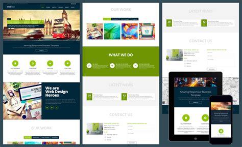 diferença page e template 15 free amazing responsive business website templates