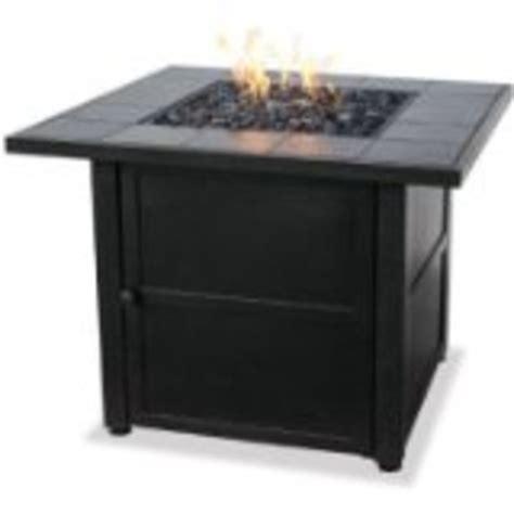 uniflame lp gas outdoor firebowl w slate tile mantel