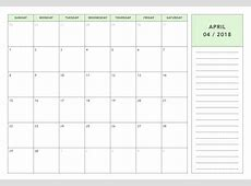2018 Monthly Planner Calendar Printable Free Download