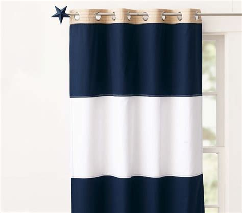 Navy Striped Curtain Panels by 16 Best Images About Curtains On Window