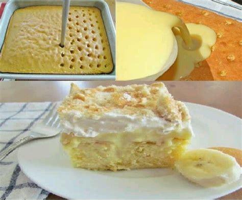 banana pudding poke cake banana pudding poke cake yum