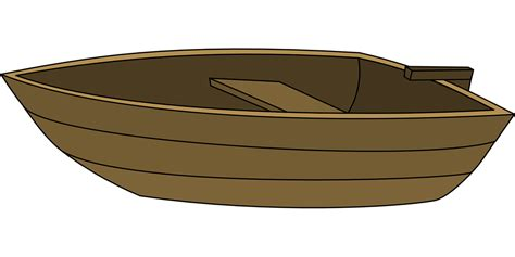 Cartoon Wood Boat by Free Vector Graphic Boat Wood Rowing Simple Small