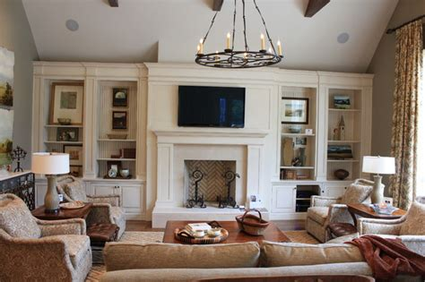 Family Room Builtins  Traditional  Living Room