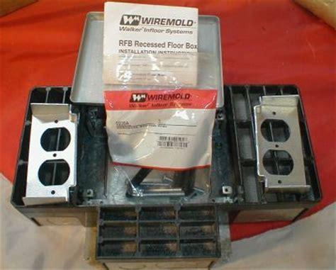 wiremold rfb4 multiplex recessed floor box