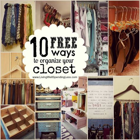 Organize Your Bedroom Closet  Living Well Spending Less®