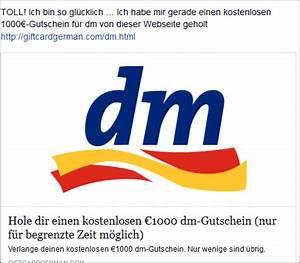 Amazon Gutschein Bei Dm : facebook 1000 dm gutscheine zu gewinnen abo und spamfalle mimikama ~ Markanthonyermac.com Haus und Dekorationen