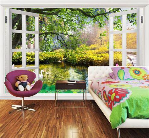 papier peint personnalis 233 tapisserie murale sur mesure paysage zen trompe l oeil effet 3d avec