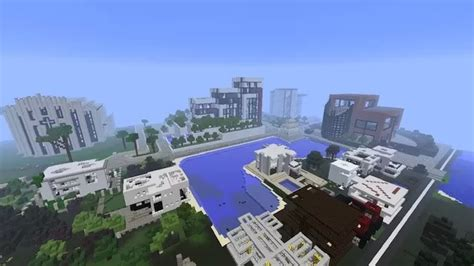 minecraft modern city map presentation and