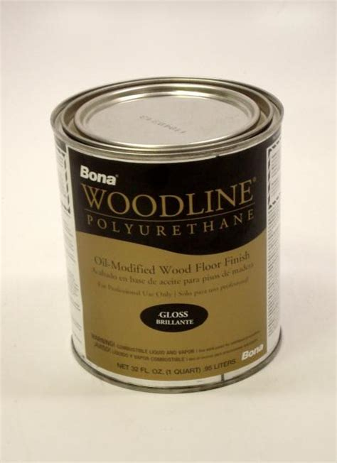 bona woodline polyurethane gloss based hardwood floor finish quart chicago hardwood flooring