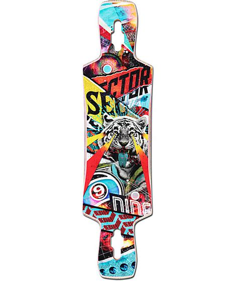 sector 9 static 39 5 quot drop through longboard deck at