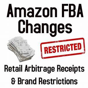 Amazon FBA Changes - Retail Arbitrage Receipts & Brand ...