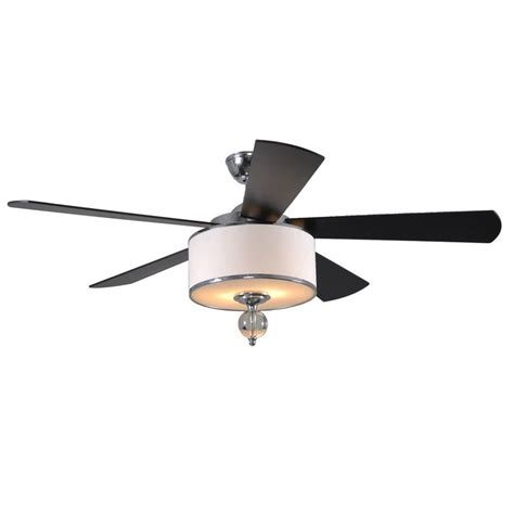 shop allen roth 52 in harbor polished chrome indoor ceiling fan with light kit and