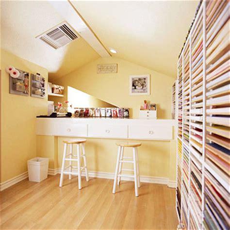 An Attic Crafts Room