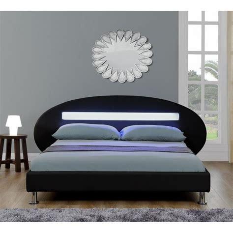 lit led adulte 160x200 cm noir achat vente lit pas cher couleur et design fr
