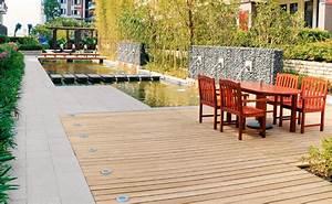 Holzdielen Für Terrasse : kombinierte holz stein terrasse mit hornbach ~ Markanthonyermac.com Haus und Dekorationen