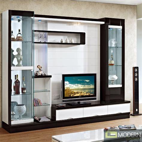 Contemporary Modern wall unit entertainment center