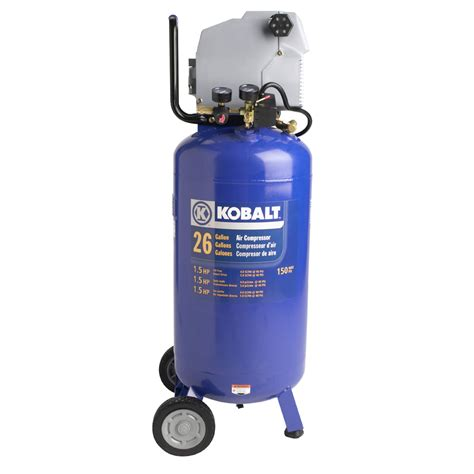 shop kobalt 1 5 hp peak 26 gallon air compressor at